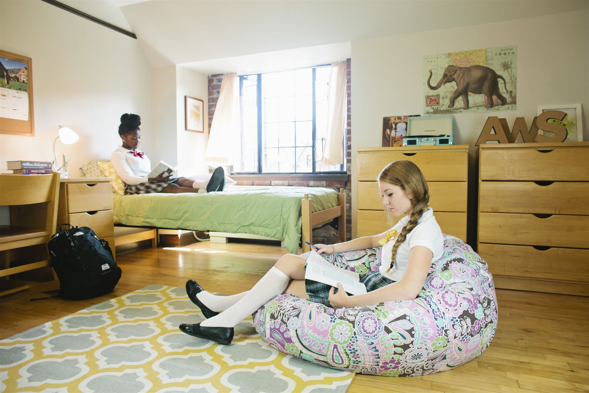 The recently refurbished dorm rooms are spacious, bright and airy.