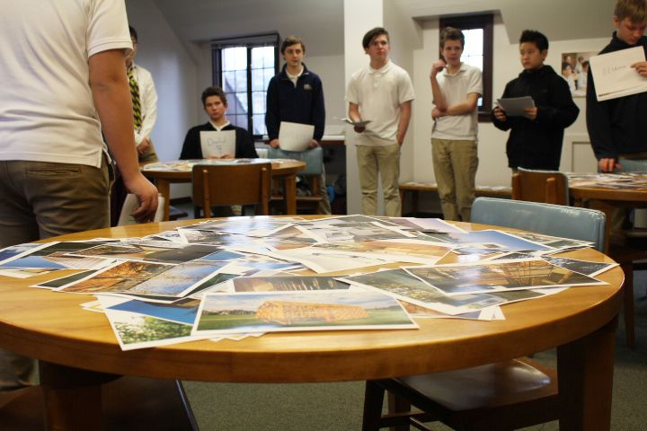 Back in the classroom, the boys study design elements and the relationship between architecture and emotions.