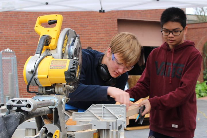 Practical skills including using power tools are also an essential component of the project.