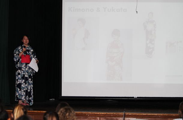 Friday's International Gala was a wonderful conclusion to an entire week celebrating the global connections within our community. Sakiko I. '18 gave an interesting presentation on her home country, Japan.