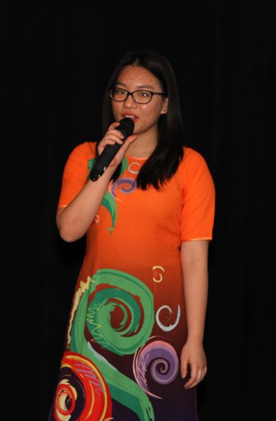 Ngoc N. '19 sang the song
