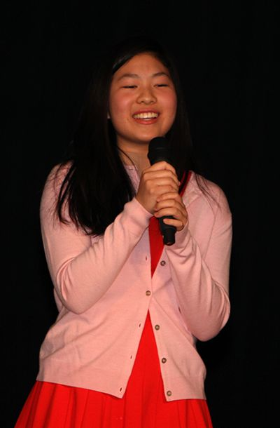 Brianna M. '20's smile and happy energy lit up the stage while she sang a Taiwanese song, with Maya Y. '20 accompanying her on the piano.
