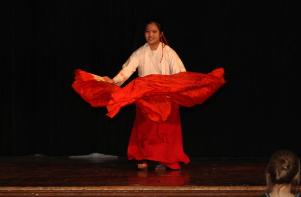 Rachel L. '19 had the audience transfixed with her traditional Chinese dancing.
