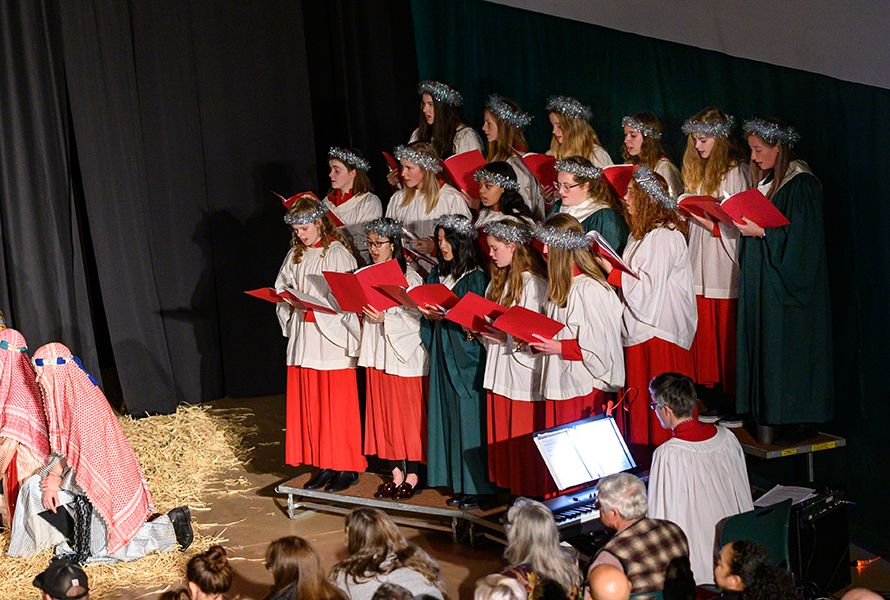 Our talented singers told the traditional story through song.