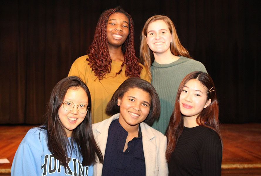 Global Cultures club leaders Chelsie, Elizabeth S. '22, Semin A. '21, Bianca M. '21, and Brianna did an outstanding job pulling the event together...