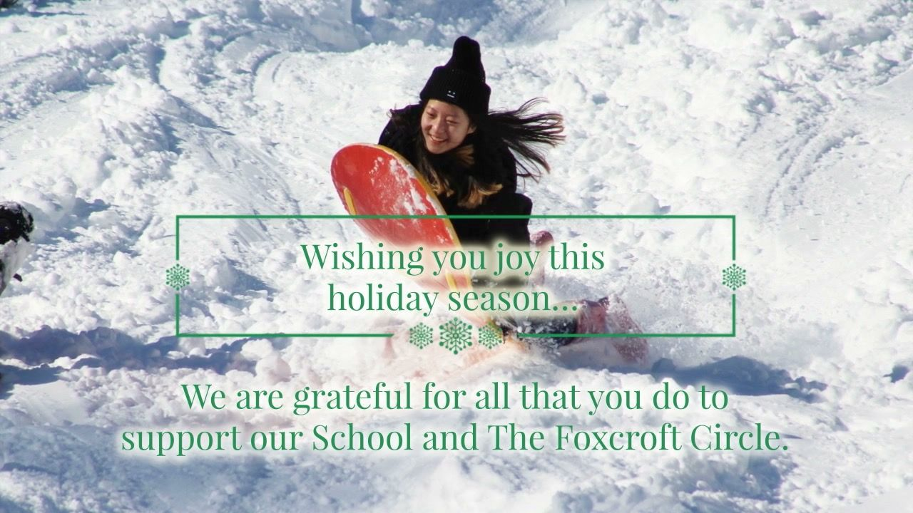 The Foxcroft Circle: Wishing You Joy this Holiday Season