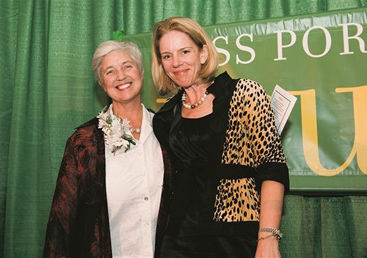 Tracy Gary '69, president and founder of Inspired Legacies, pictured with Head of School Dr. Kate Windsor.