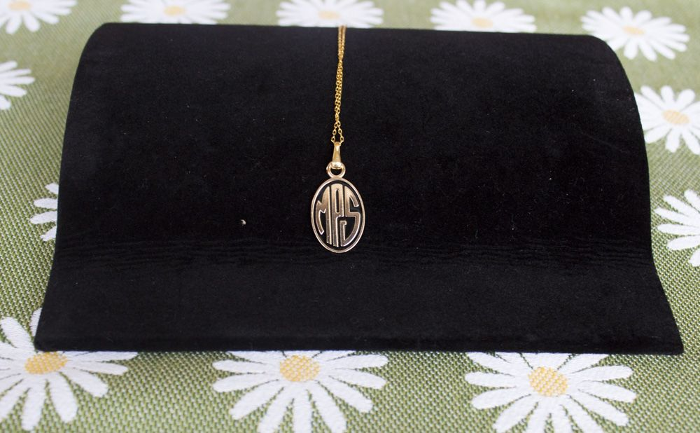 "MPS Logo Necklace with 36"" chain - Gold-Plated - Diameter: 1.5 cm"