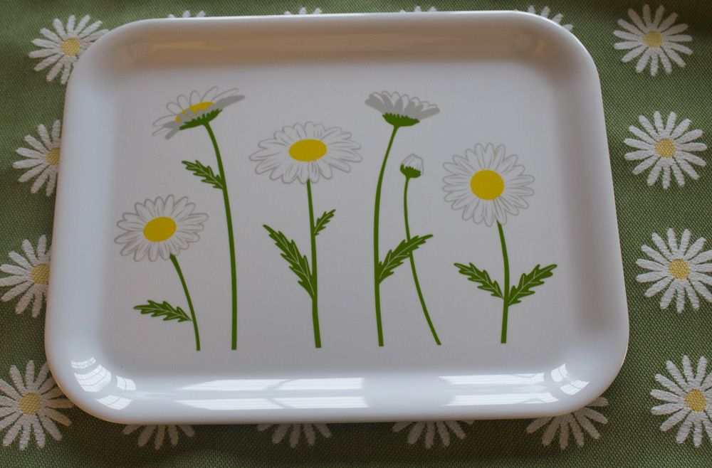 "175th Commemorative Daisy Tray - 100% Melamine - Dishwasher Safe - Dimensions: 13""L x 10.25""W x 5/8""H"