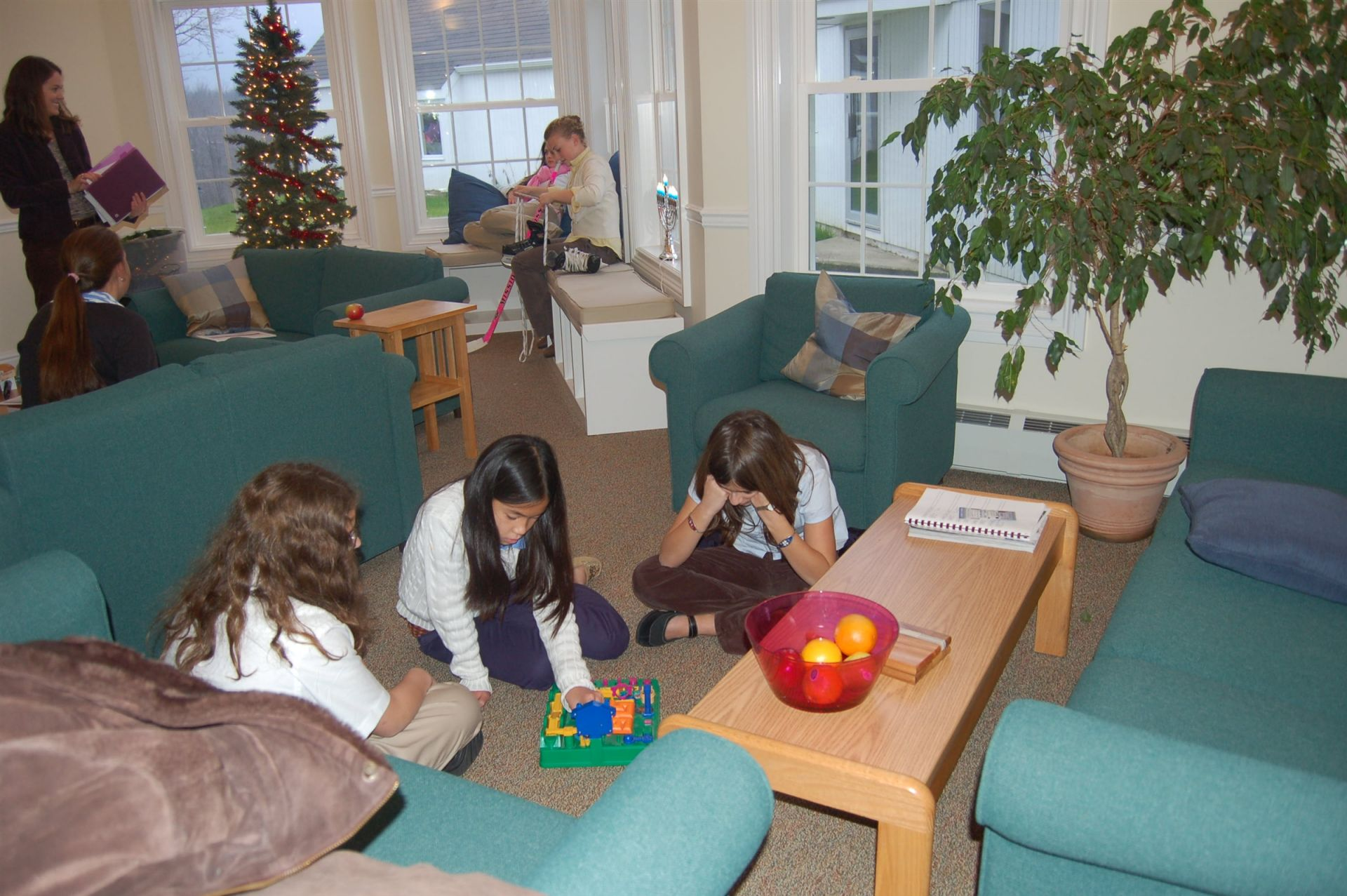 West Hall is divided into Upper West, which houses girls in grades 6-7, and Lower West, which houses girls in grades 7-8.