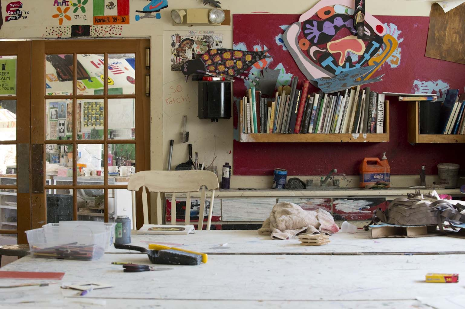One of our art rooms filled with natural light.
