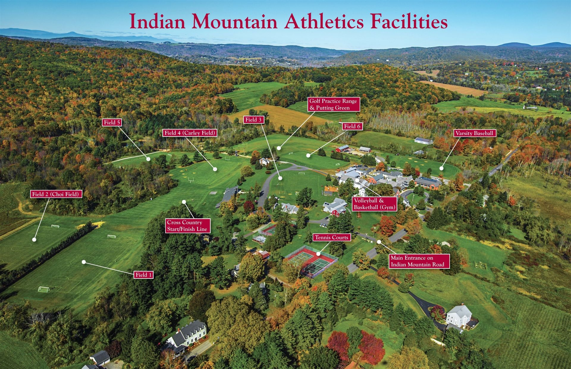 Athletics Facilities Map
