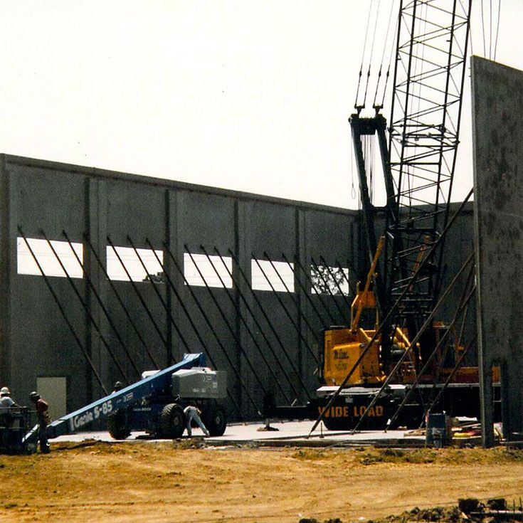 The Blass Gym construction in progress in 1999.