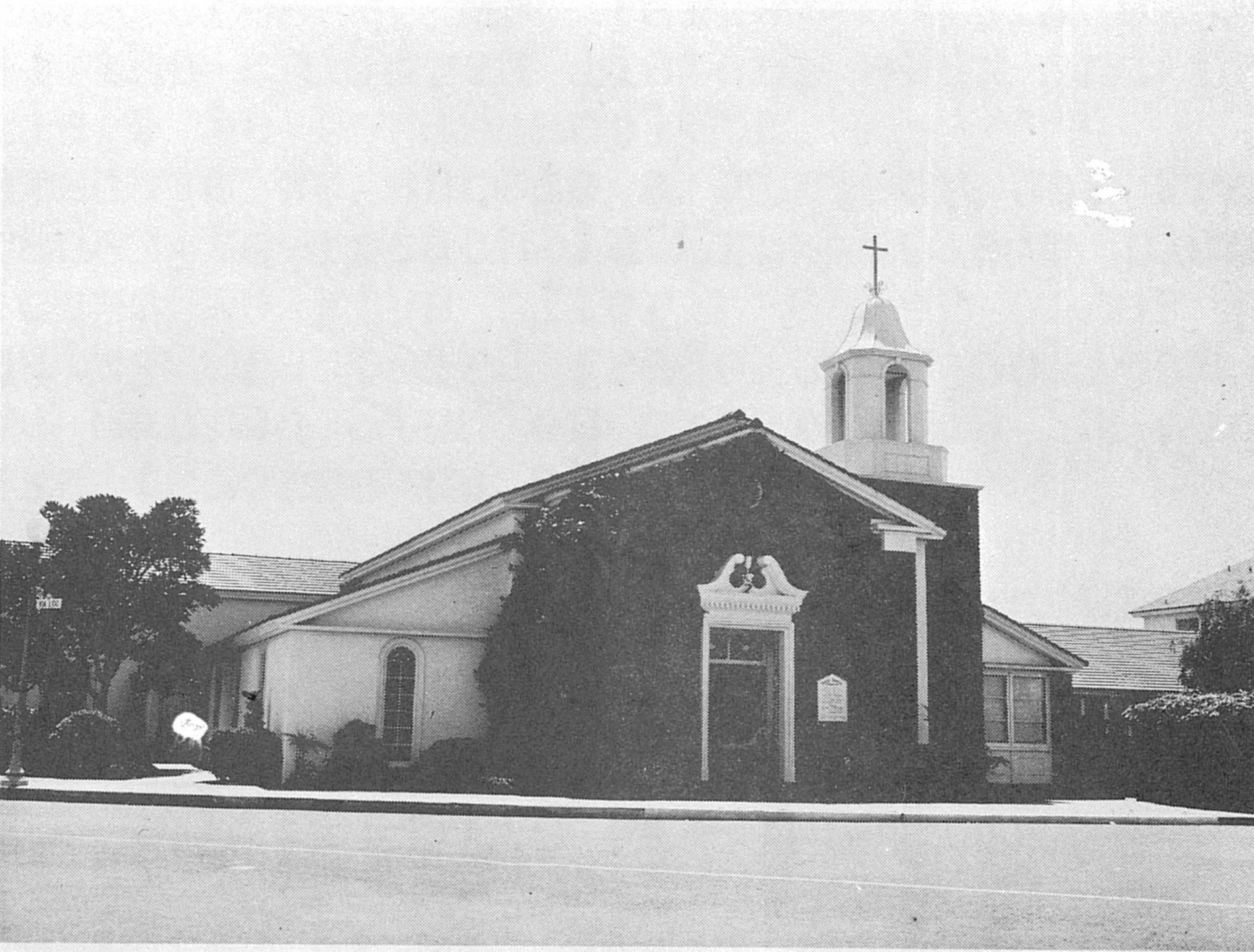 The original St. James Parish in the 1950