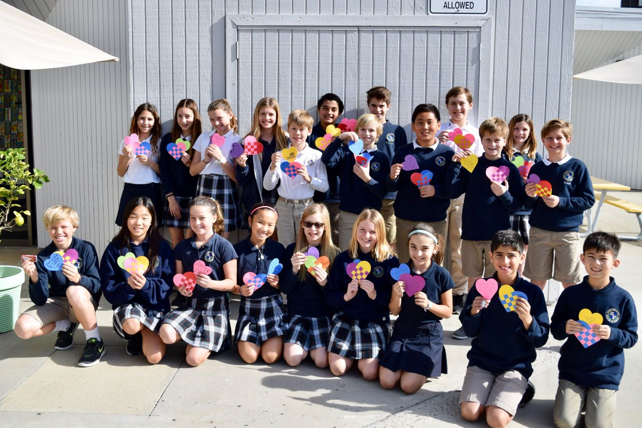 Fifth grade students send care packages to troops through Operation Gratitude.