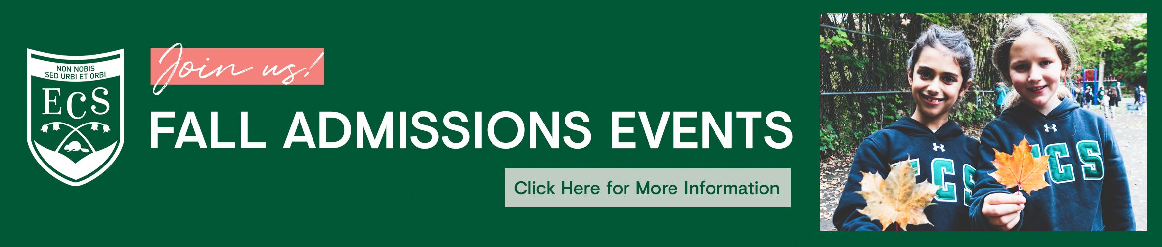 Join Us - Fall Admissions Events