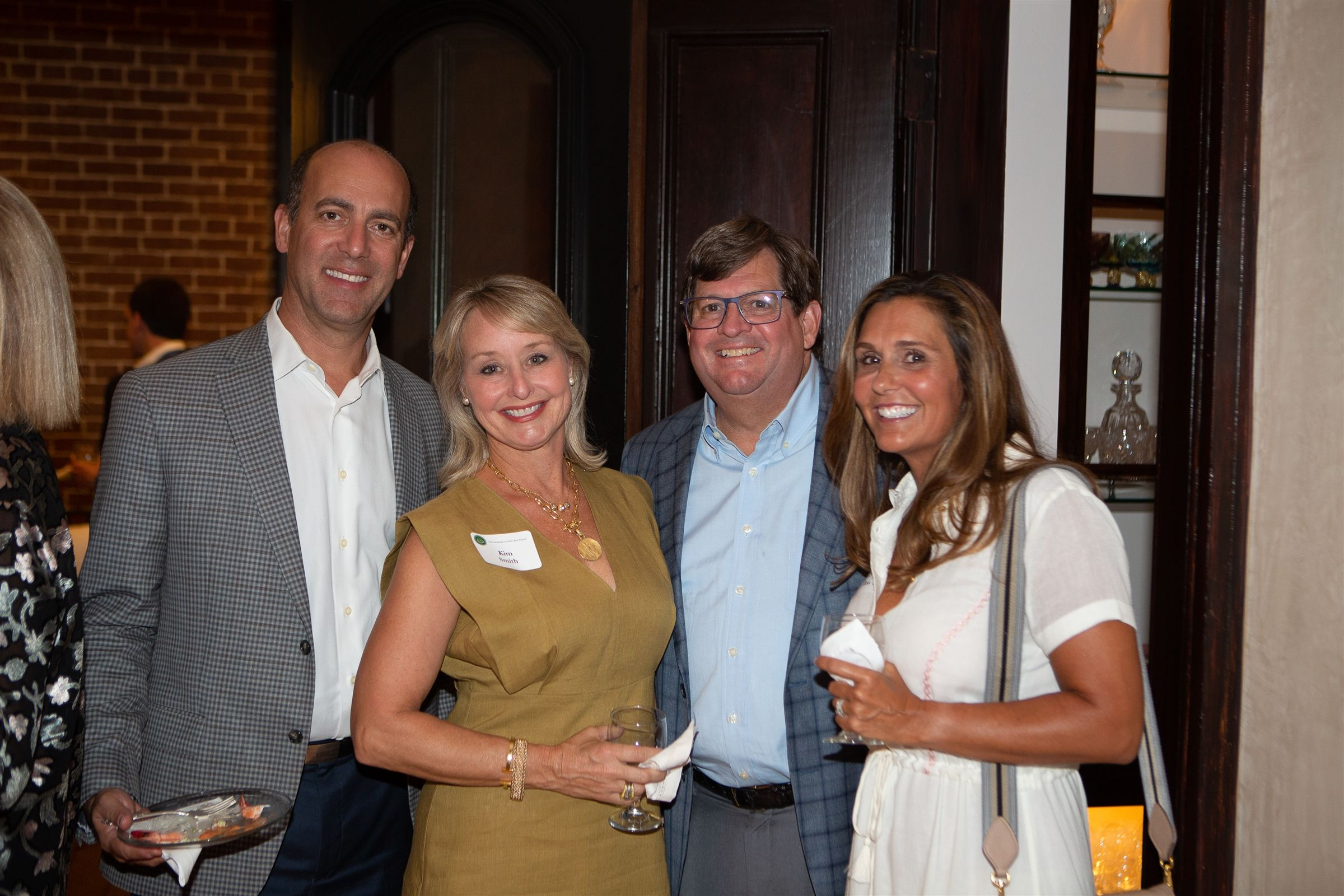 Bill Glass, Kim & Mark Smith and Liz Gold Glass '89 at the 2019 Green & Gold Dinner