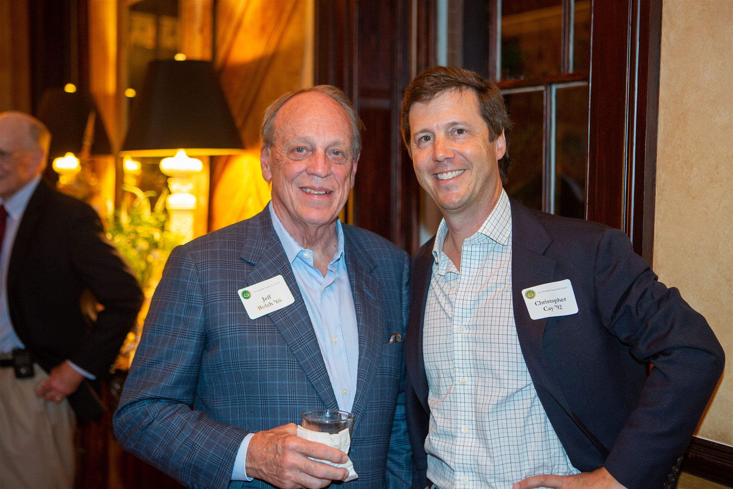 Dr. Jeff Bolch '66 & Christopher Cay '92 at the 2019 Green & Gold Dinner