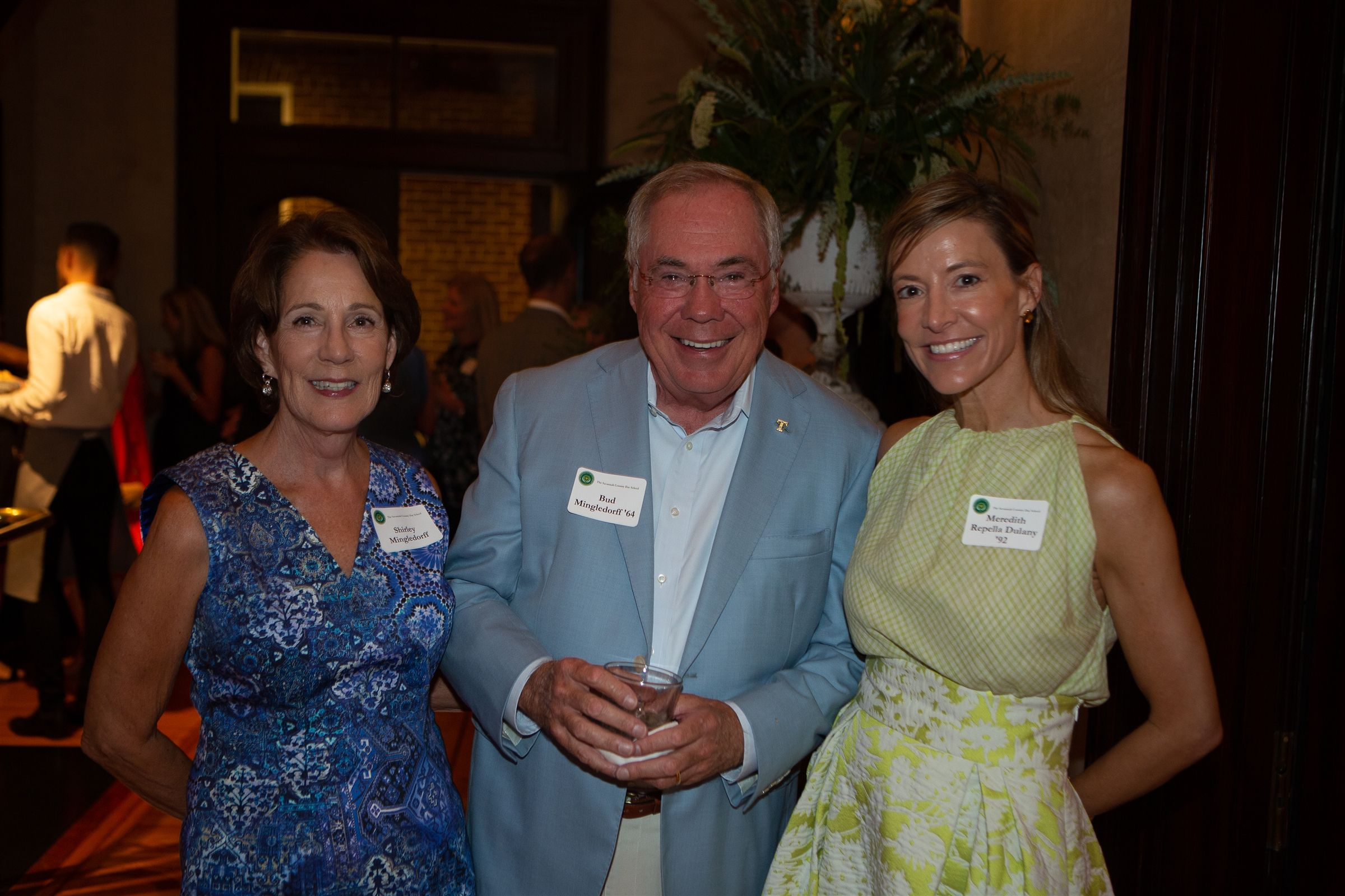 Shirley & Bud Mingledorff '64 and Meredith Repella Dulany '92 at the 2019 Green & Gold Dinner