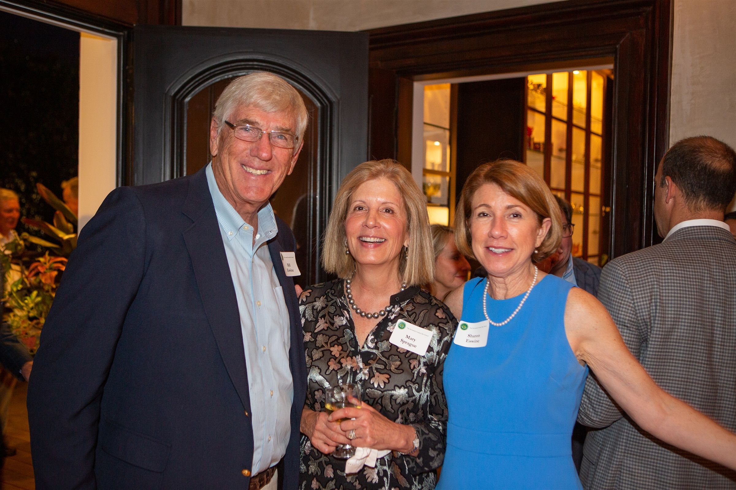 Sharon & Bill Eswine with Board of Trustees President, Mary Sprague