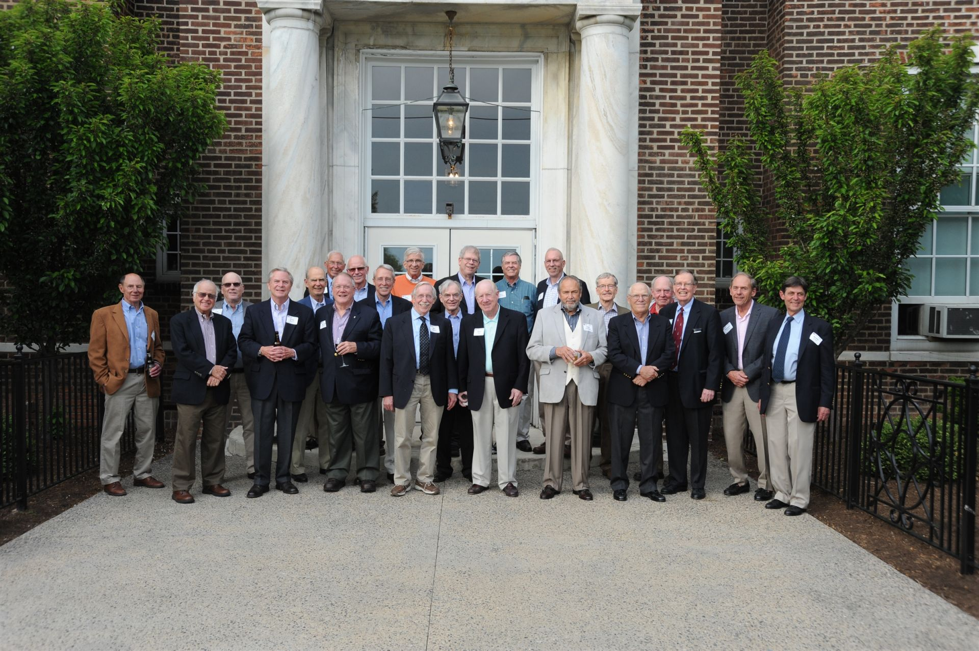 Members of the Class of 1961 enjoy cocktails and dinner at the Shaker Campus