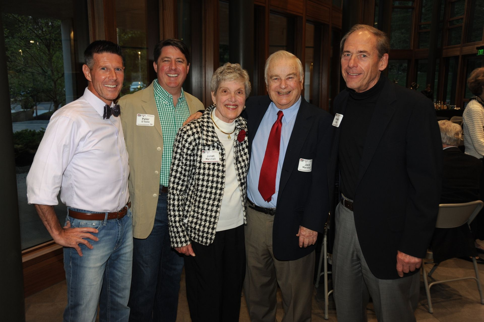 Dan Hartman '86, Peter O'Toole '86, Janet and Jack Marshall '49, and Howard Busse '61