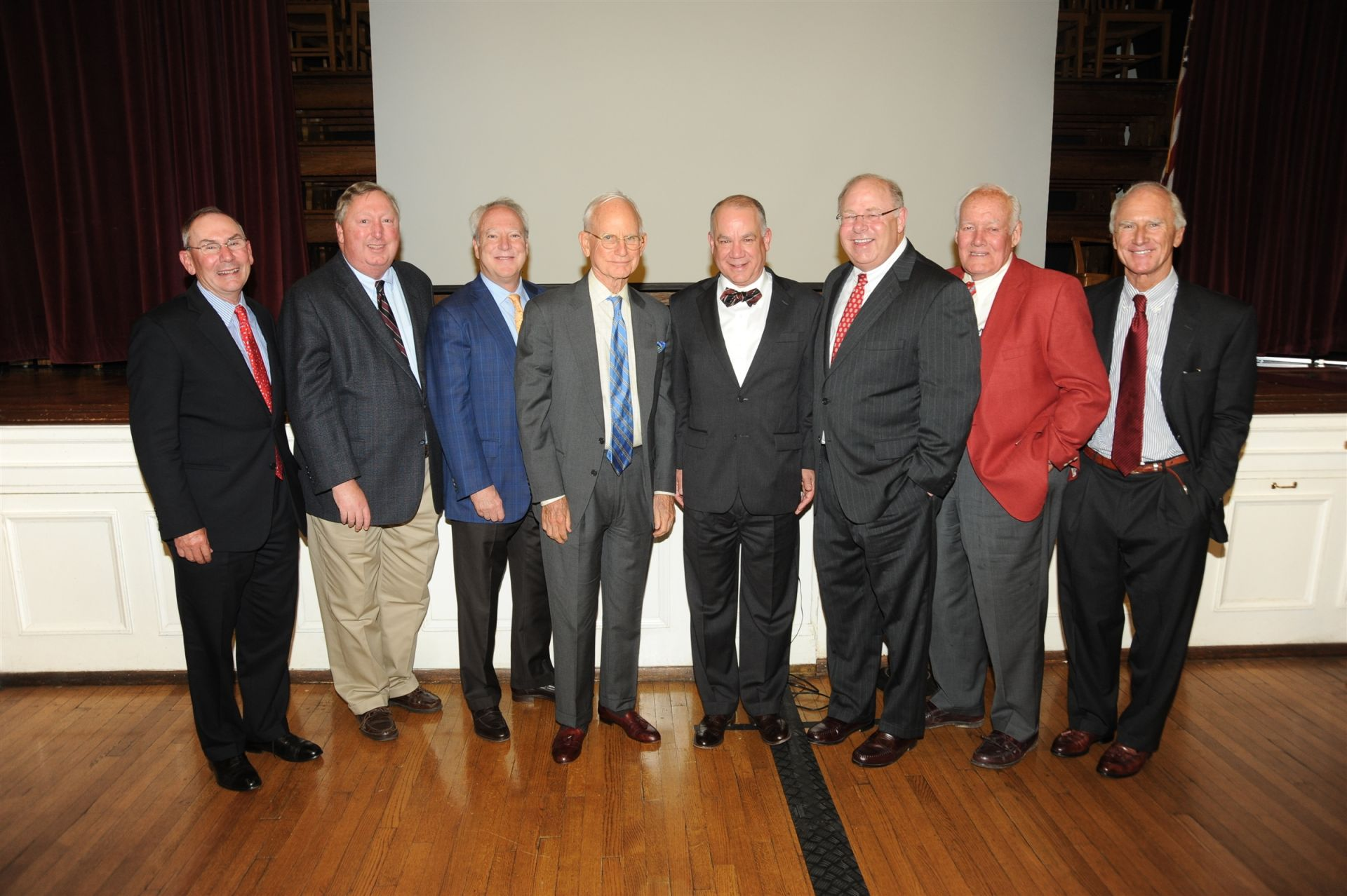 Dave Fulton '74 with former alumni graduate award winners