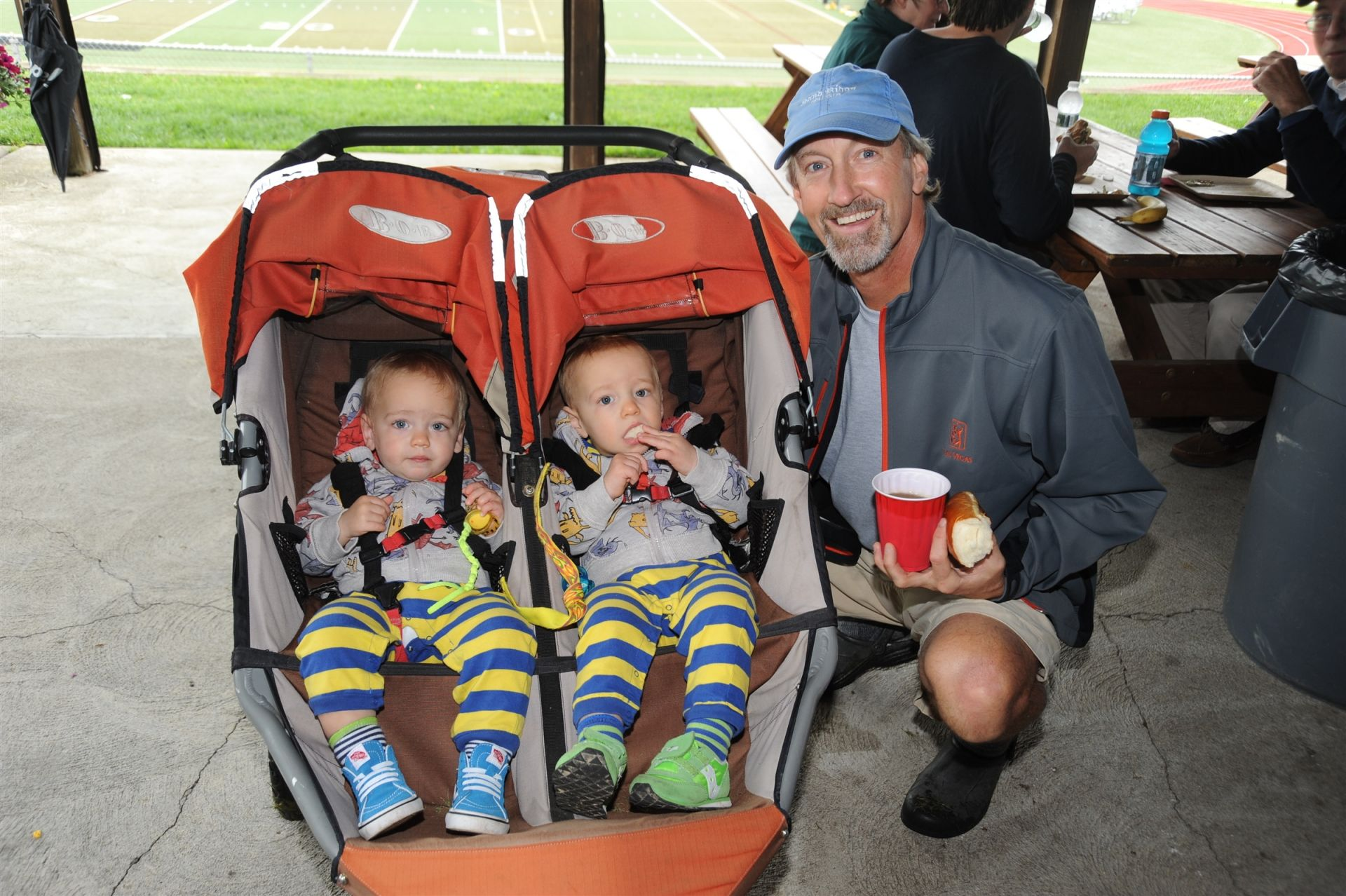 David Chilcote '76 and his twins