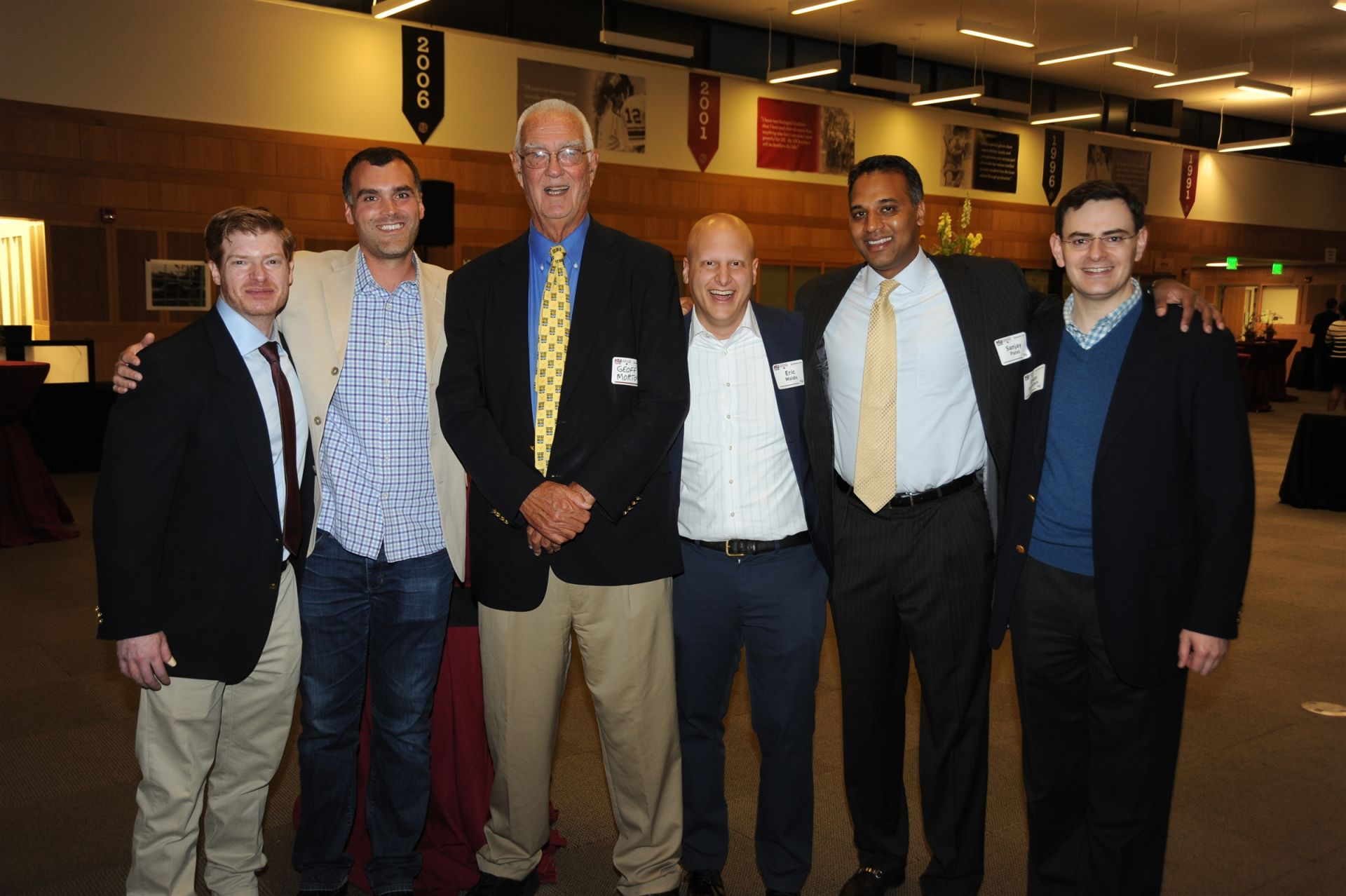 Members of the Class of 1996 with former faculty member Geoff Morton