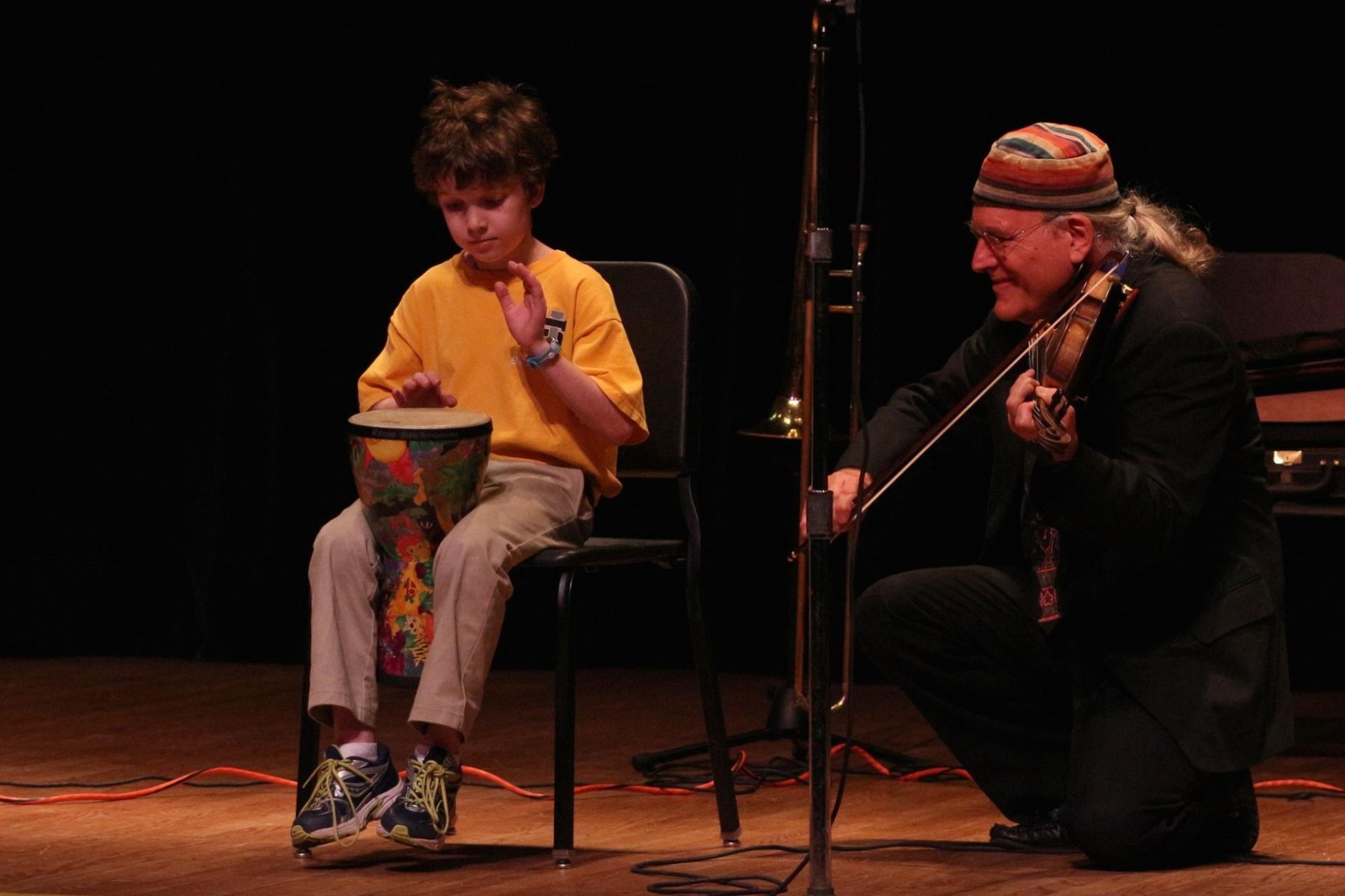 Yiddishe Cup, a Klezmer band, performs at the Shaker Campus