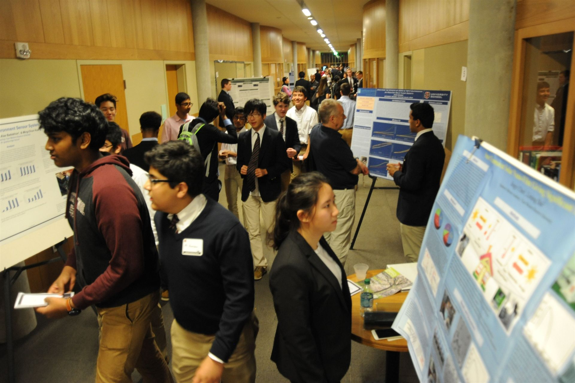 About 150 people gathered for the symposium which featured student presentations and a keynote speaker.