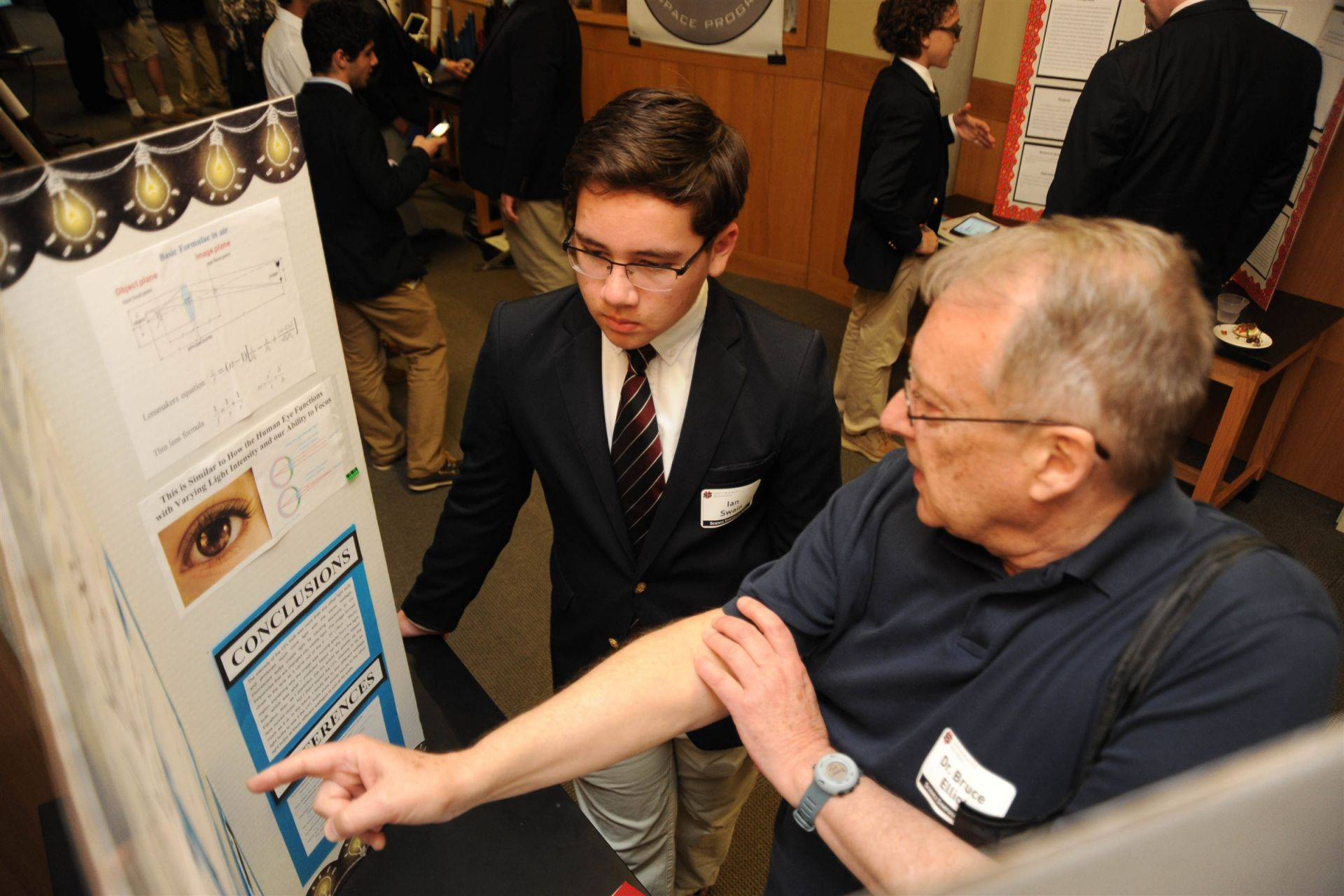Evaluator Bruce Elliot PhD and Ian Swain '21: Can You See It?