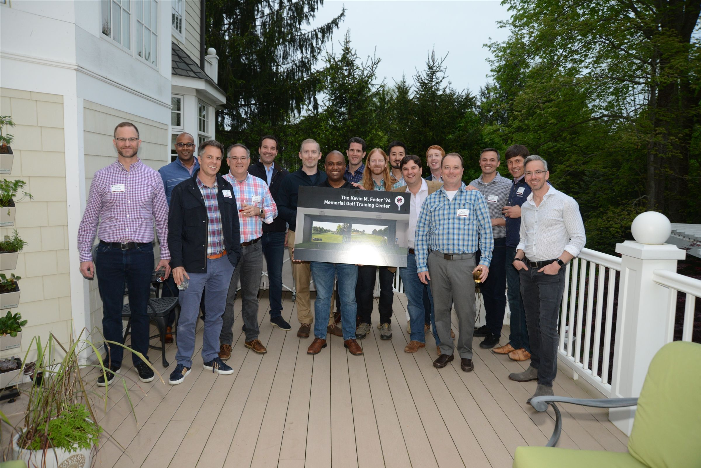 Riddi and Andy Kline hosted the Class of 1994 at their home for their 25th Reunion.  The class donated funds to construct the Kevin M. Feder '94 Memorial Golf Training Center at US.