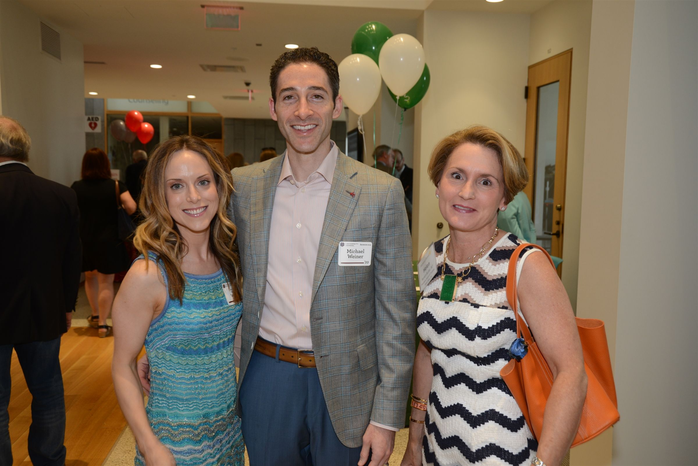 Danielle and Michael Weiner '99 join Helen Rankin Butler at the Four School Reception.