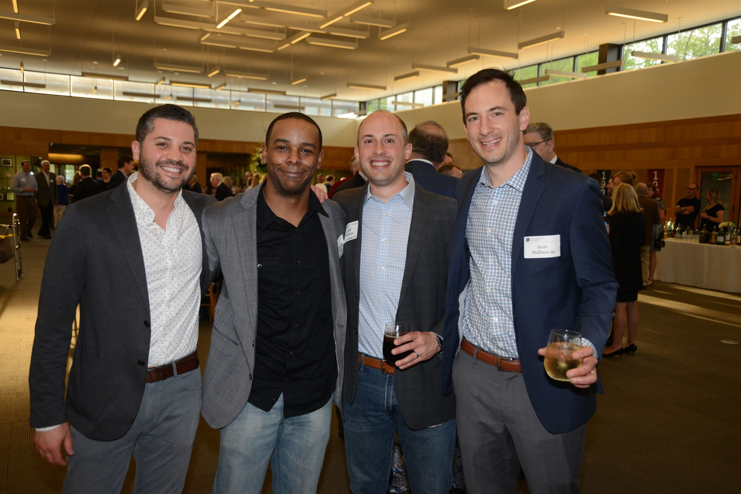 The Hail University Reception has become a weekend tradition. Cheers to Brian Hochman '99, Spencer Paul '99, Jeff Malbasa '99, and Scott Malbasa '99, and all of the alumni who came back to US!