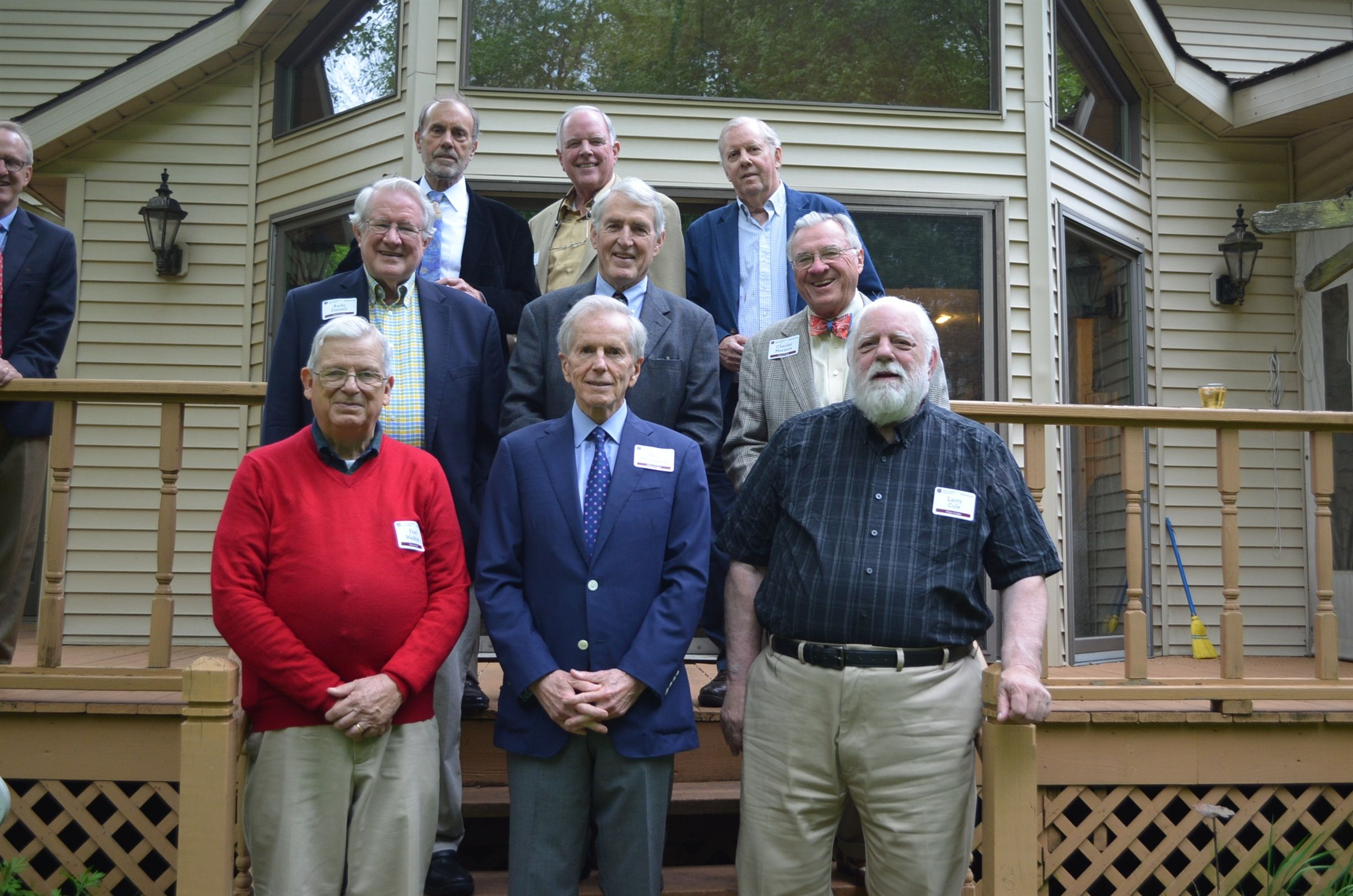Fred Watkins was happy to host his classmates from 1959 for their 60th reunion.