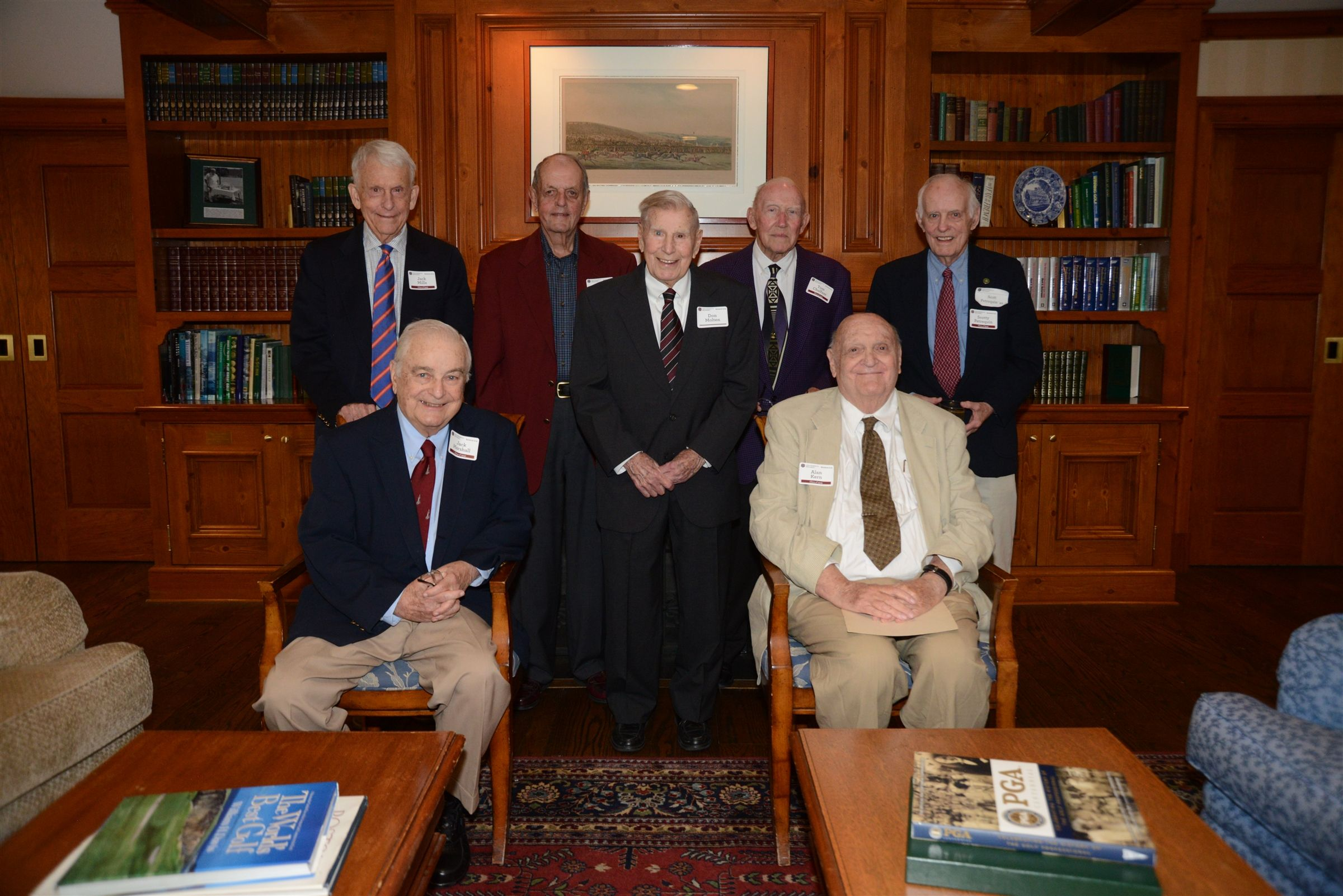 The Class of '49 celebrated their 70th Reunion at The Country Club with special guest Don Molten Sr.