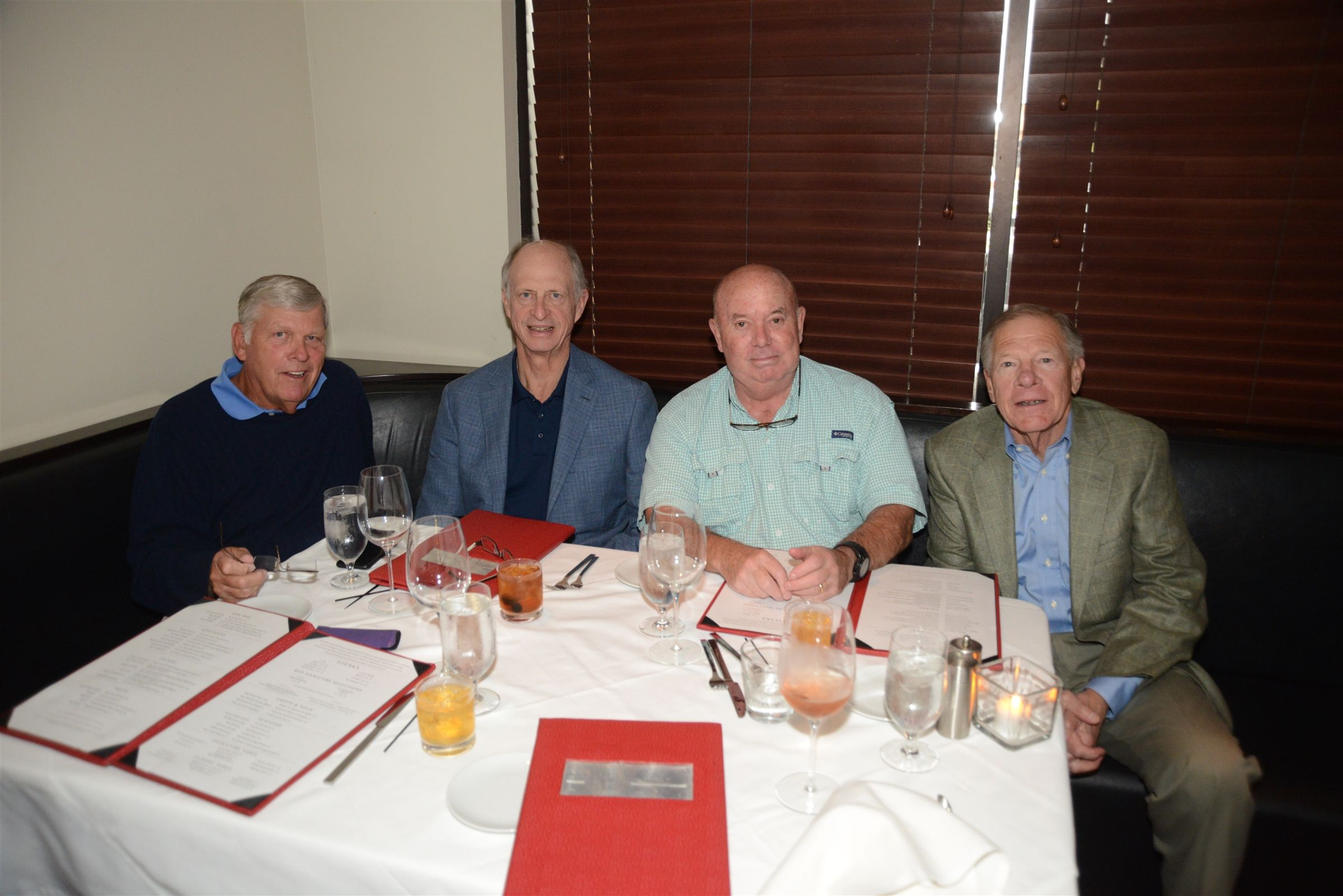 Members from the Class of '64 Bill Calfee, Jim Griswold, Jon Stites, and Frank Porter had dinner at RED on Friday night of Alumni Weekend.