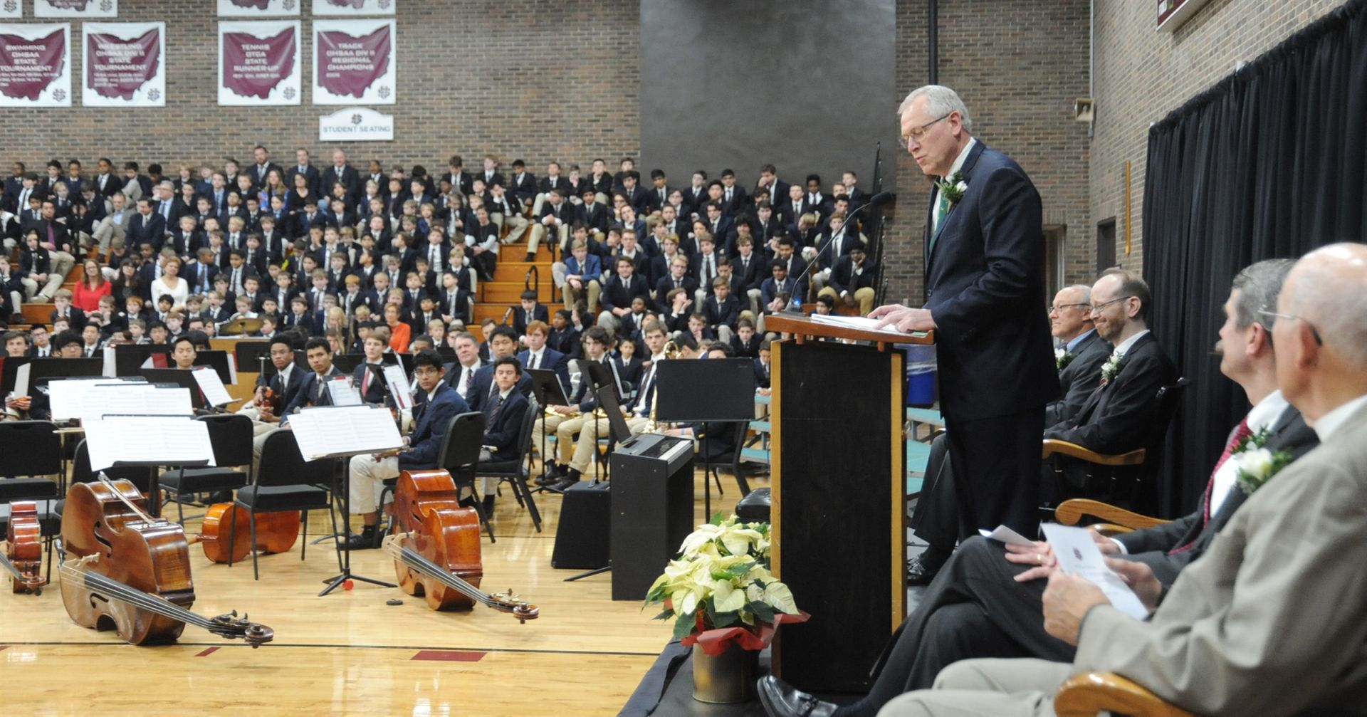 James Kubacki, president of St. Edward High School, gave the keynote address.