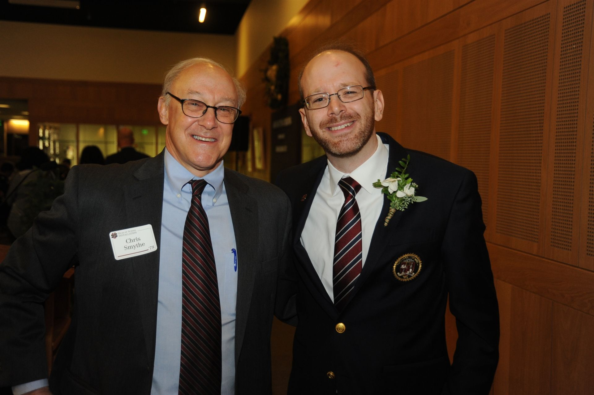 Board Chair Chris Smythe '78 with Head of School Patrick Gallagher