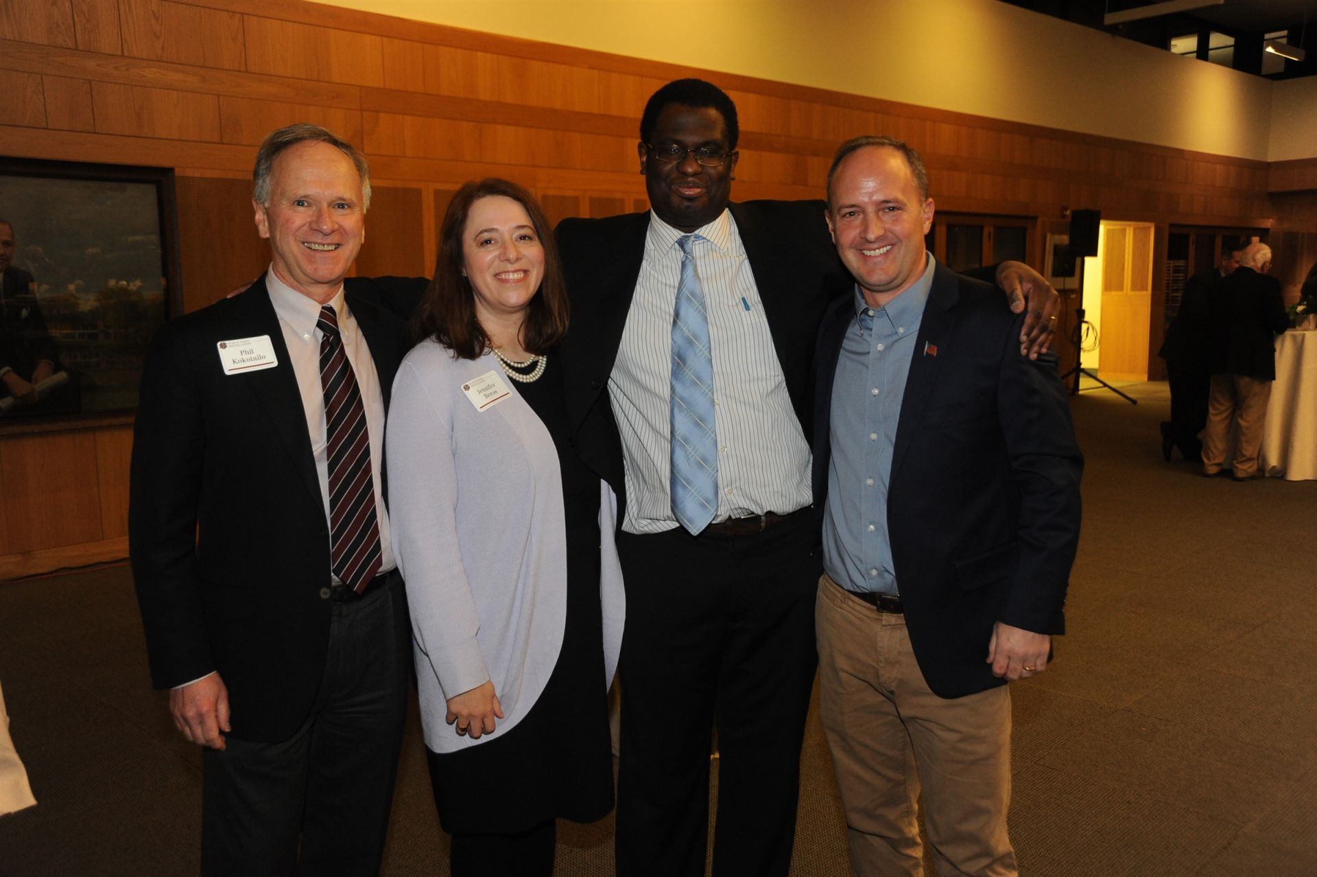 Past faculty member Dr. Philip Kokotailo with current members Jen Beros, James Lewis '00 and Mitch Strachan