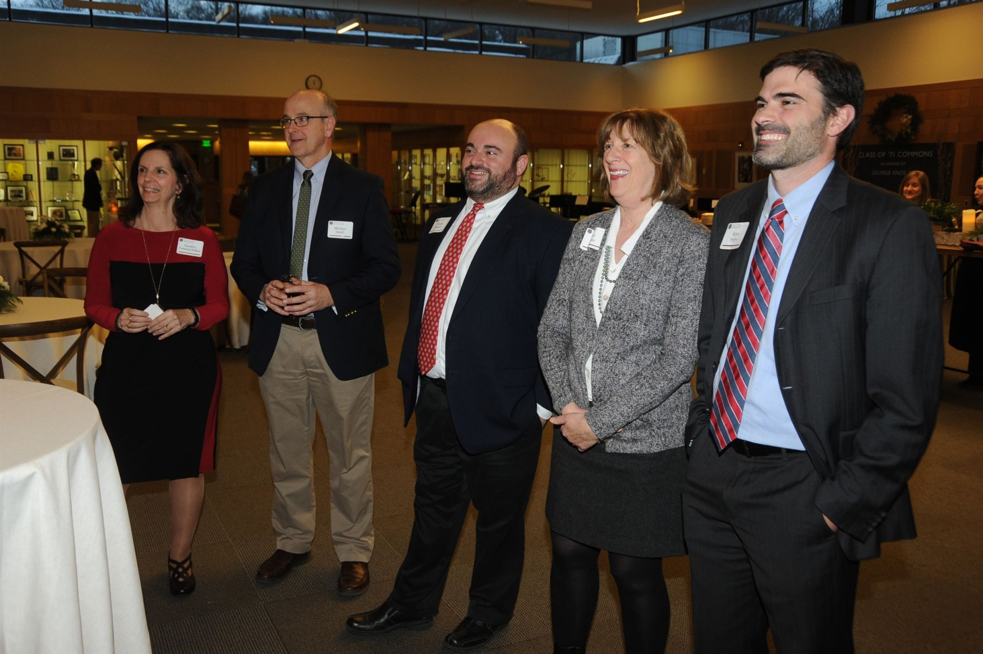 Faculty members Sandie Fantozzi-Welker, Mike Smith, Justin Passov '97, Carol Pribble and Krys Perry