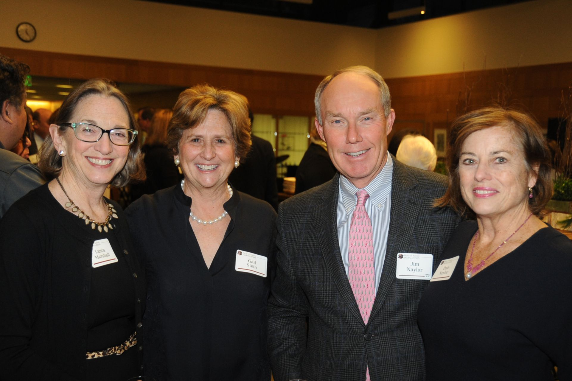 Alumni parent Laura Marshall, Lower School Director Gail Stein, Jim Naylor '72 and Trustee Dale Naylor