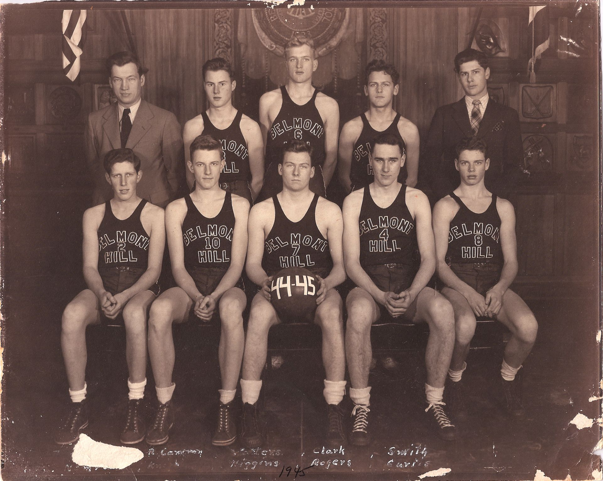 Second Row: Mr. Croke, Robt. Cameron, Walter, Clarke, Smith Front Row: Nemrow, Knight, B. Higgins, Rogers, Curtis