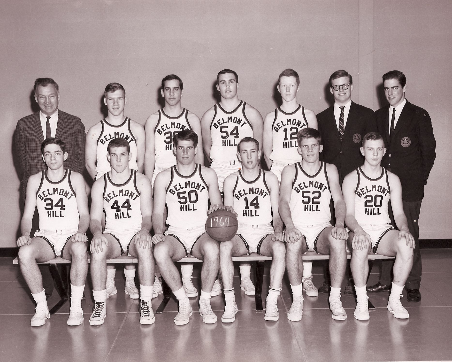 First Row: Green, Brown, Shapiro, Bergen, R. Goldkamp, Nelson Second Row: Mr. Croke, Croke, Wyner, Amon, J. Fisher, Carr, Warren