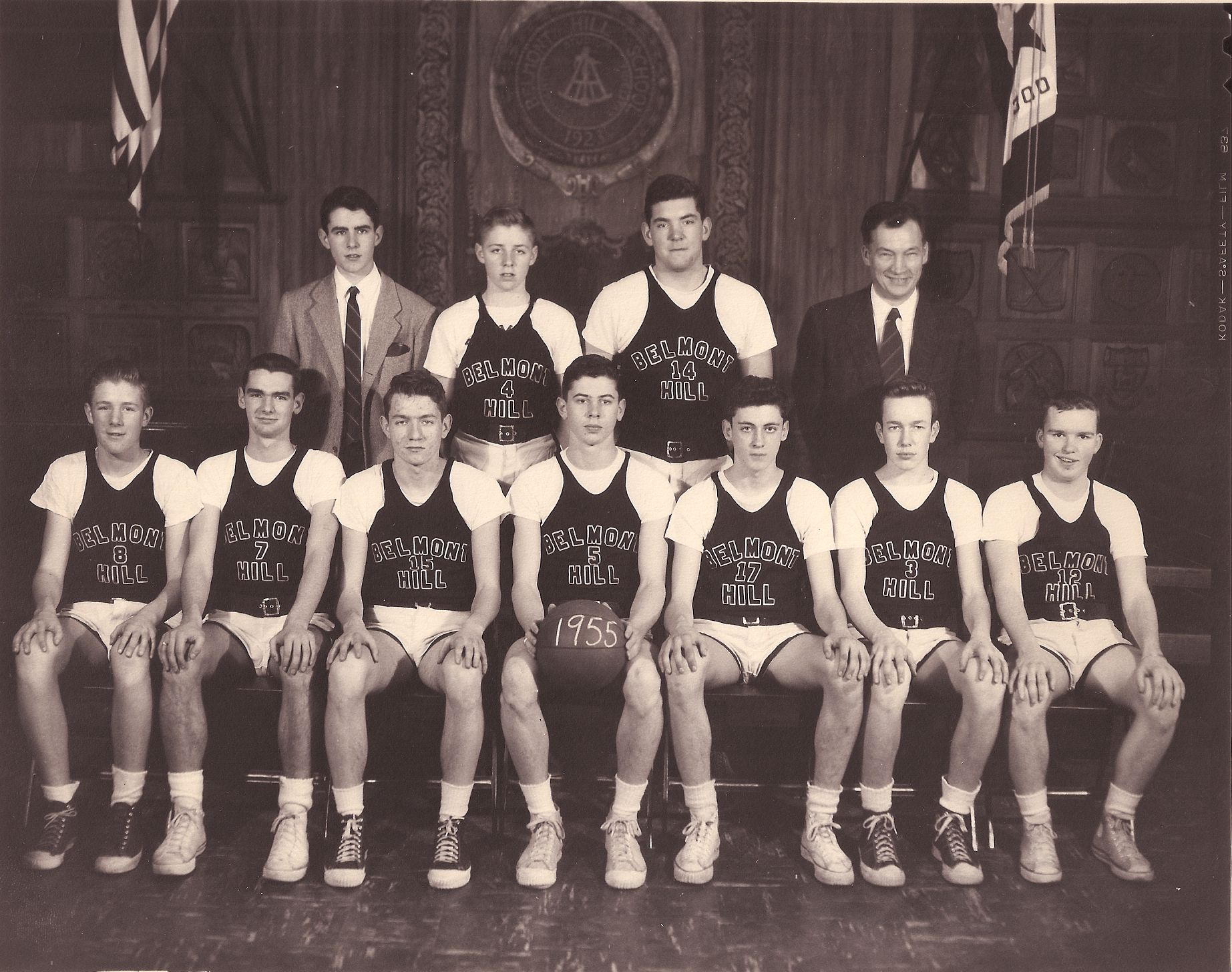Front Row: R. Woodbury, P. O'Leary, J. Wilcox, Repetto, Zayoti, Eaton, Hammond Back Row: R. O'Leary, J. Woodbury, Hurd, Mr. Croke