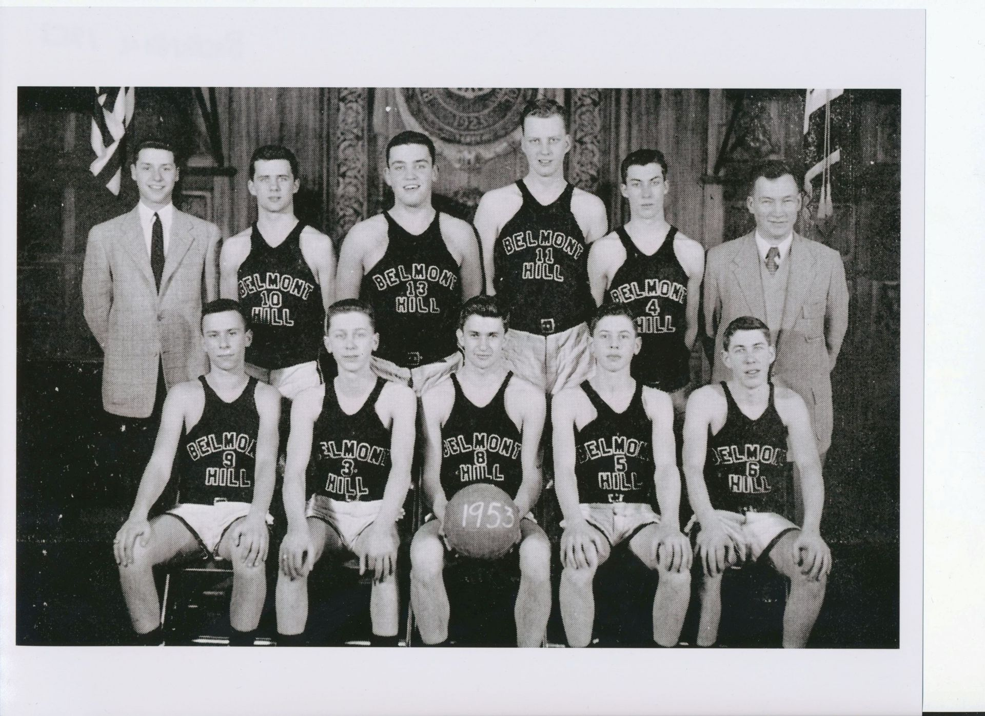 First Row: Goldman, R. Repetto, Captain Tosi, R. Repetto, Hathaway Second Row: Saunders, Meedhan,Meister, Rogers, R. MacArthur, Mr. Croke