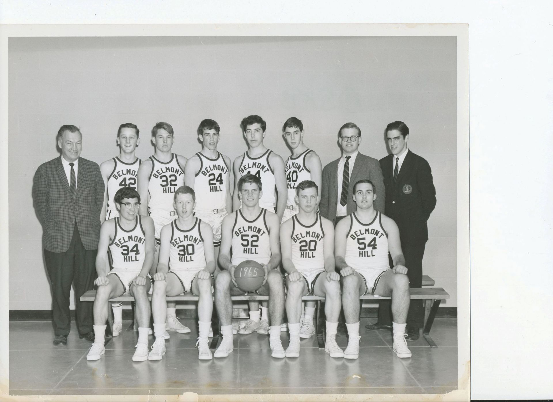 First Row: Reed, Amon, R. Goldkamp, Beal, Poulin Second Row: Mr. Croke, Bas, J. Fisher, R. Nelson, Karelis, F. Lamson, Bolan, Andreson, Carr, Warren