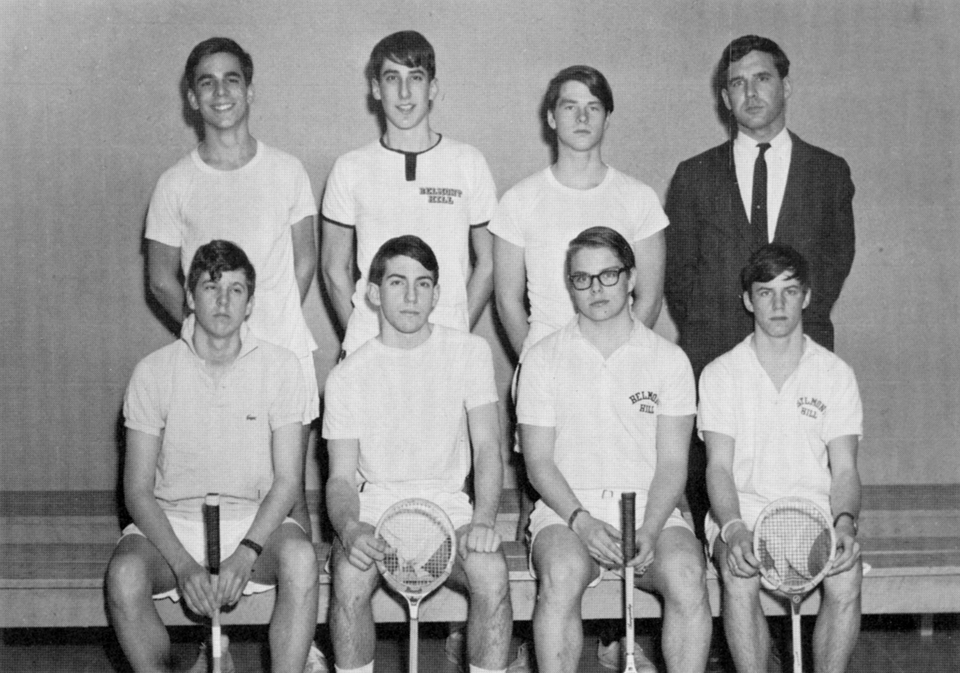 First Row: Shaw, Downes, Fitzgerald, Henderson,  Second Row: Coleman, D. Leventhal, Howe, Mr. Seeley