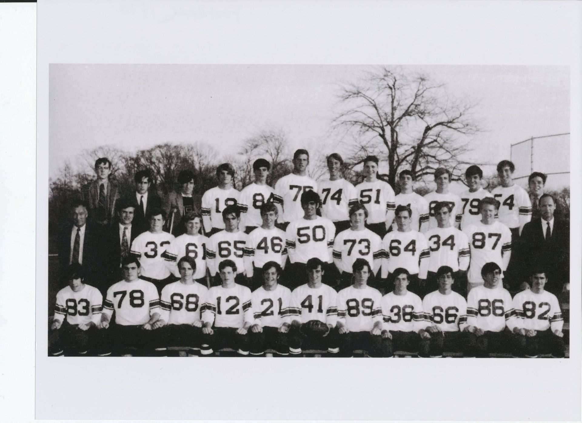 First Row: Ross, Ulfelder, Carr, Macmillan, Fox, Littleton, Thayer, Hunter, Dunn, Lane, MacPherson,Second Row: Mr. Croke, Mr. Wynne, Weeks, Ellis, Johnson, Kittredge, Dorian, Harrison, St. Clair, Bankart, Samuelson, Mr. FisherThird Row; Walworth, Amsbary, D. Kay, Pettit, Rutter, Magnuson, Wood, O., Fisher, Hogan, Moore, Joyal, Wood, E., Amsbary, B.